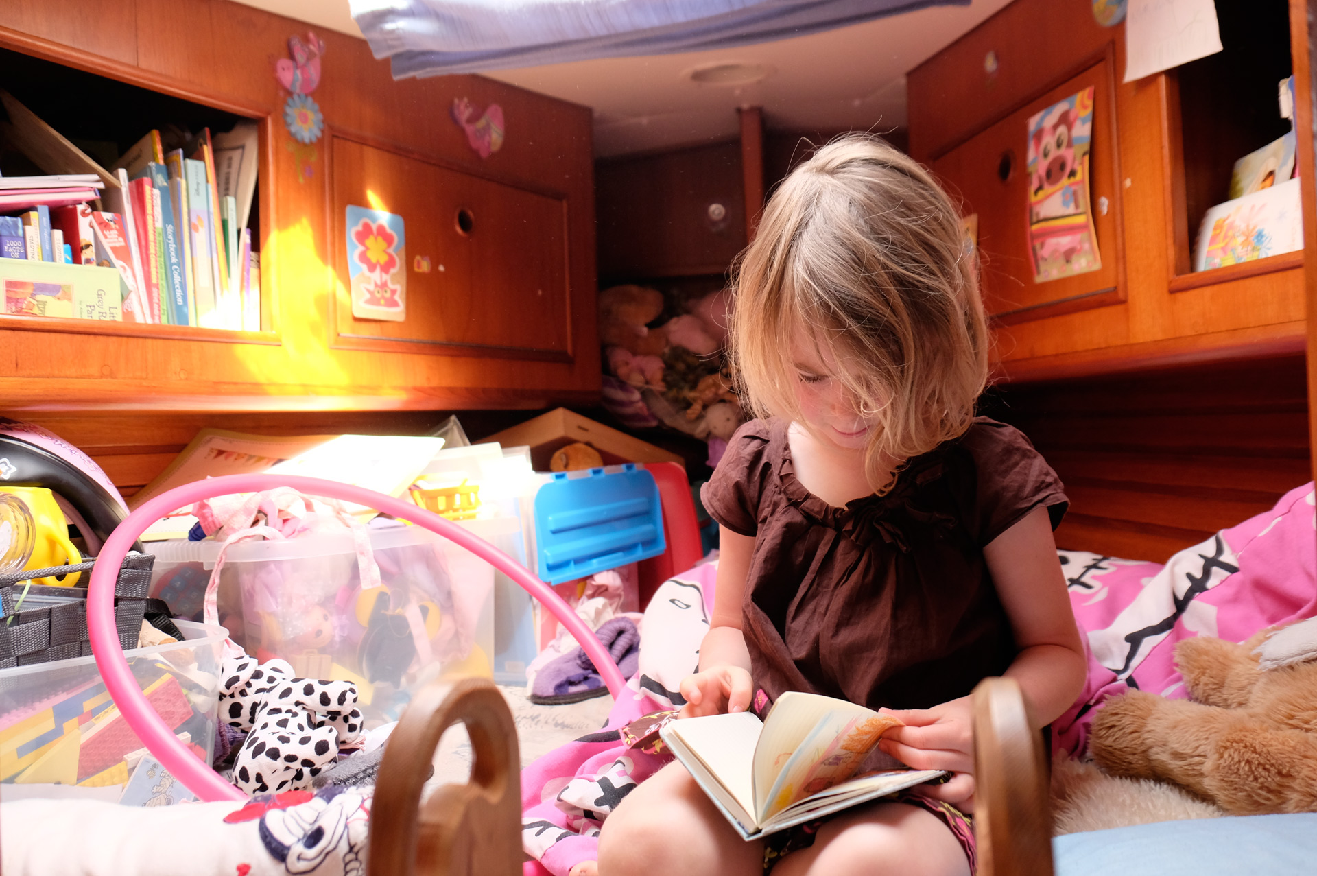 Lovely Beatrice in her luxury cabin