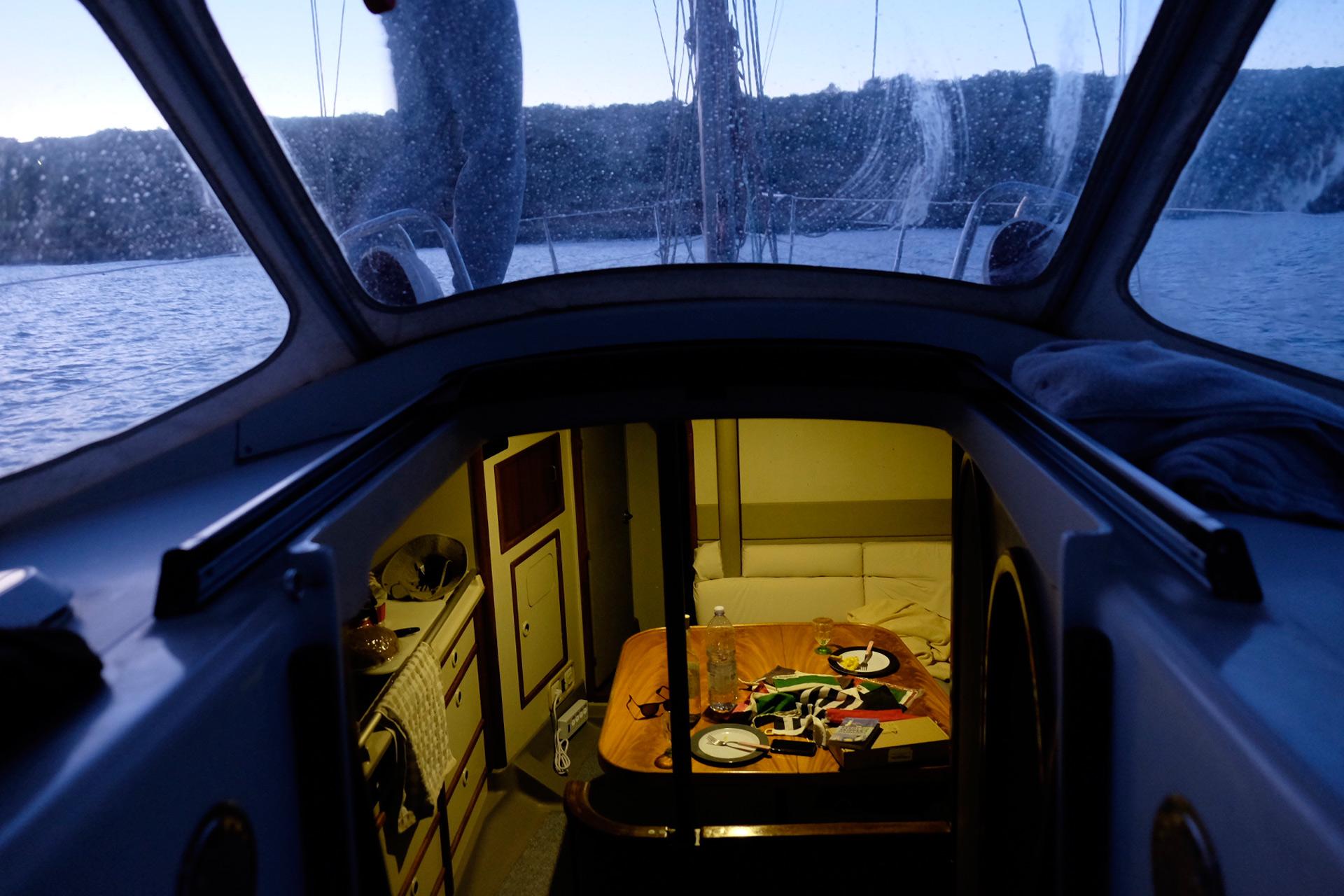 Anchoring in Mellieha Bay