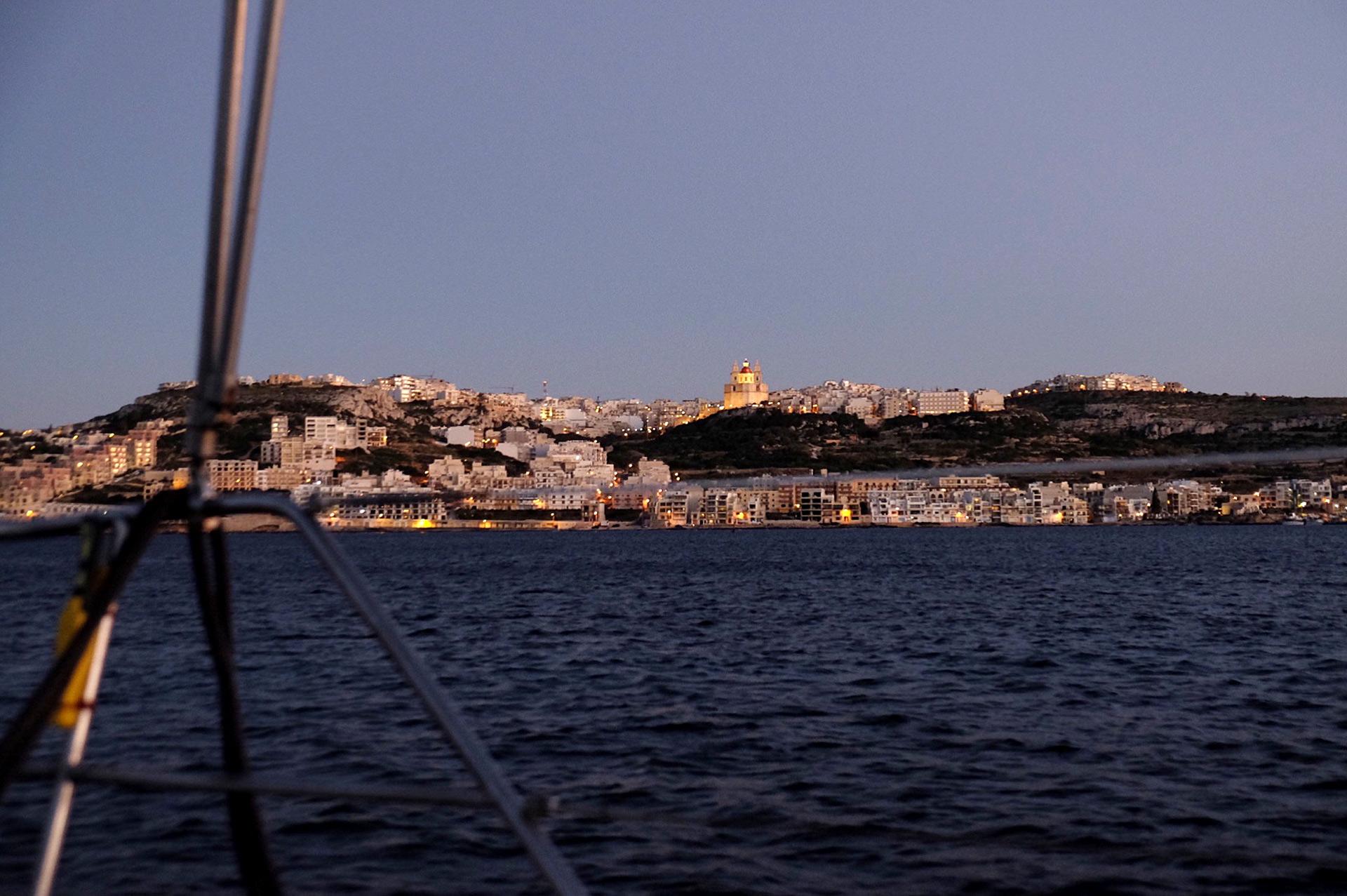 View from Mellieha Bay, Malta